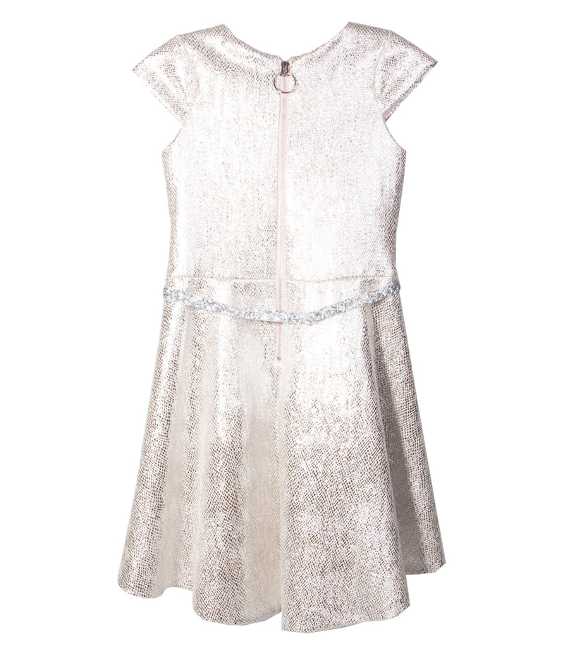 Zoe Ltd. Girls Sabine Tweed Blush Dress
