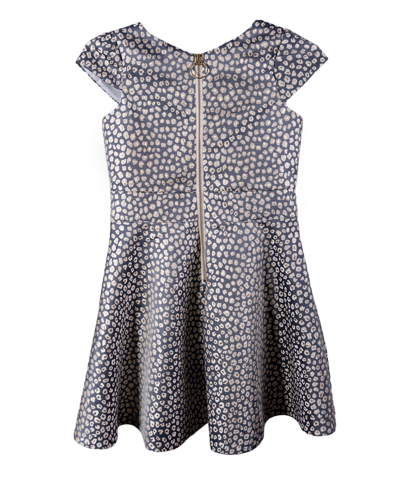 Zoe Ltd. Girls Python Gold Silver Dress