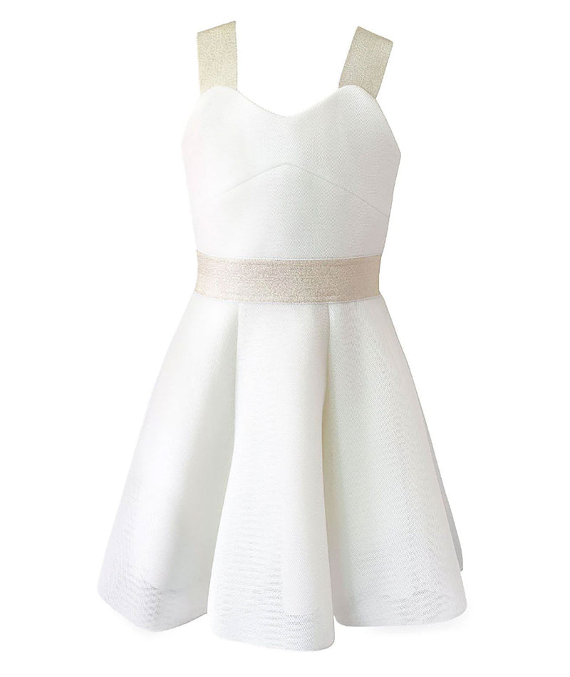 Zoe Ltd. Girls Jenna Sateen Blush Dress