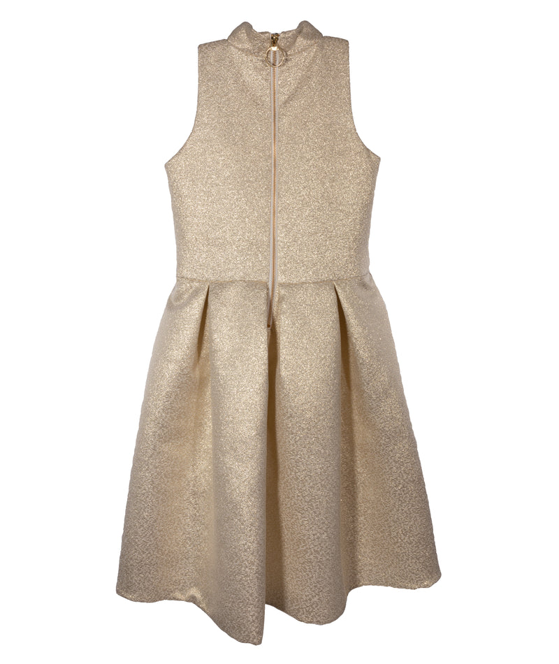 Zoe Ltd. Girls Ivory and Gold Dress