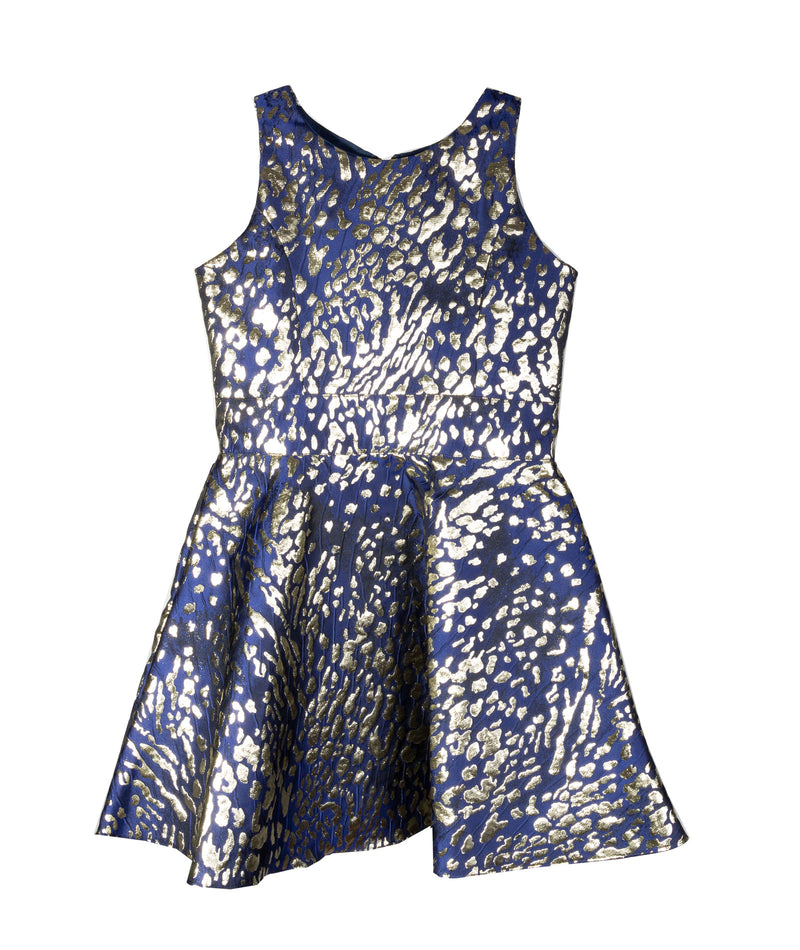 Zoe Ltd. Girls Gold Mesh Dress