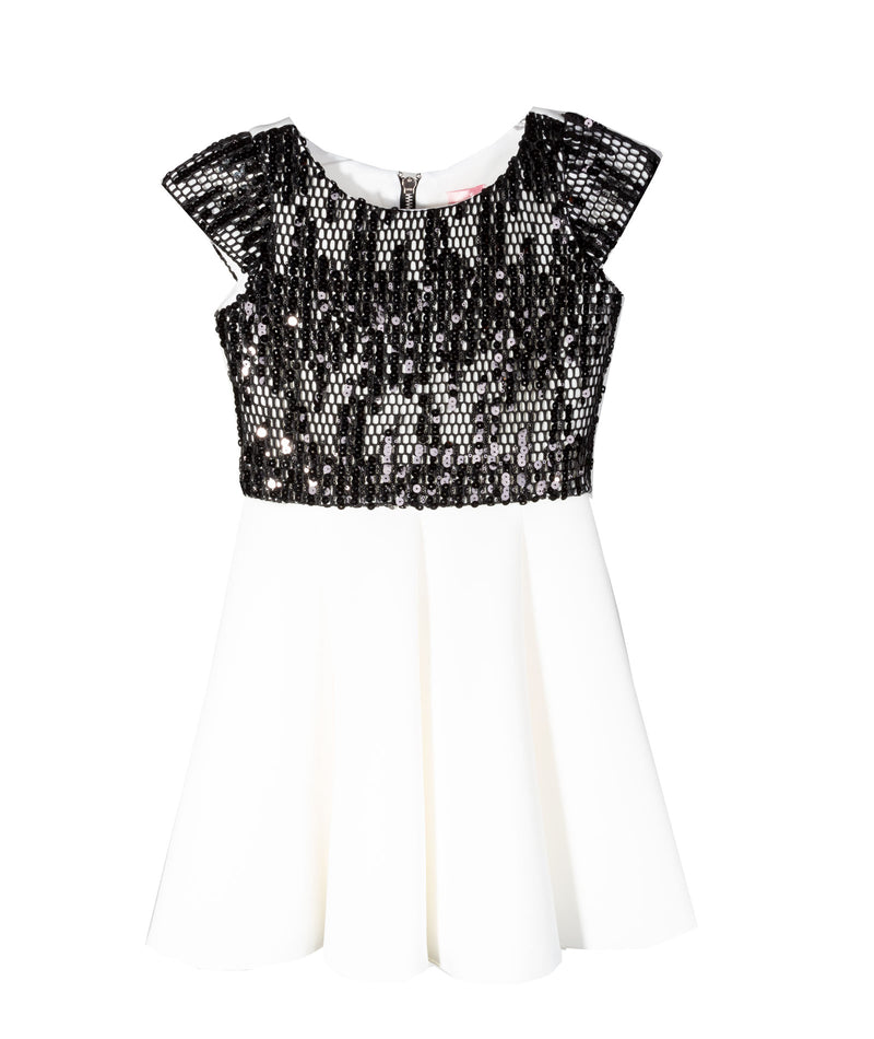 Zoe Ltd. Girls Ivory Sequined Dress
