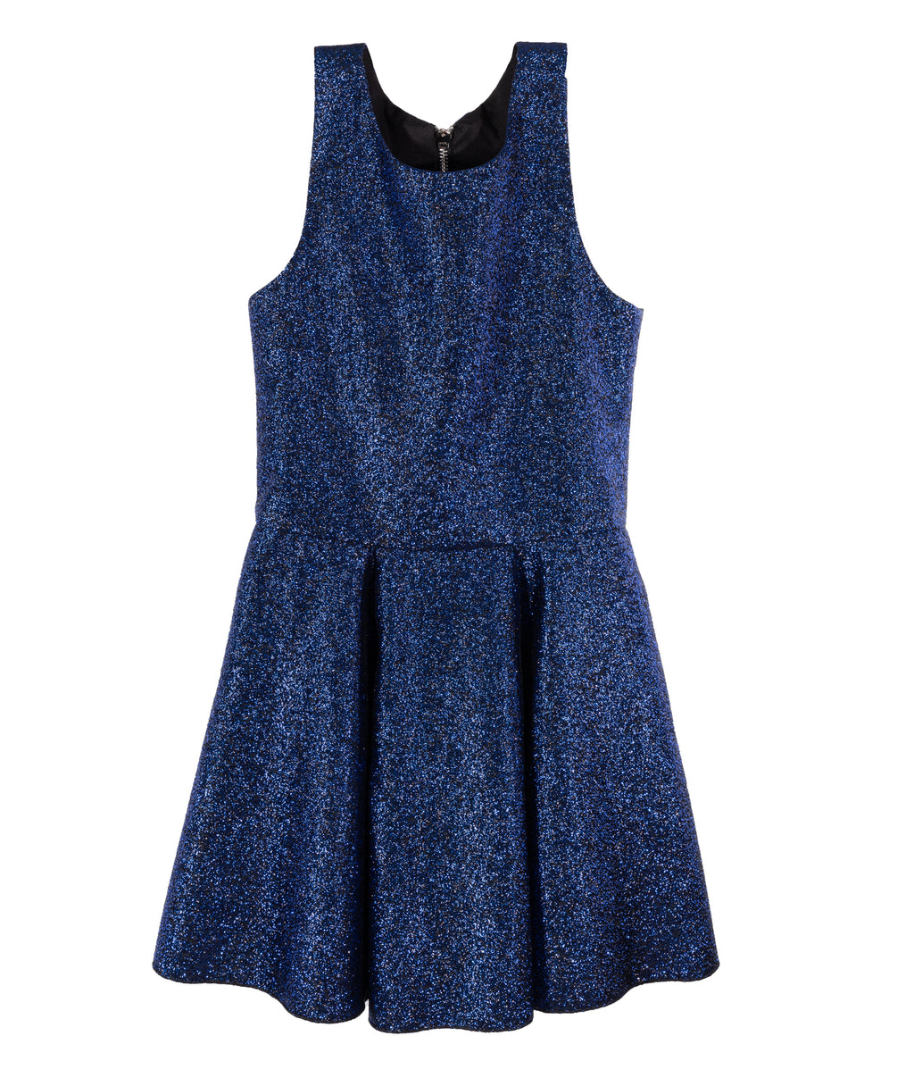 Zoe Ltd. Girls Royal Blue Metallic Dress