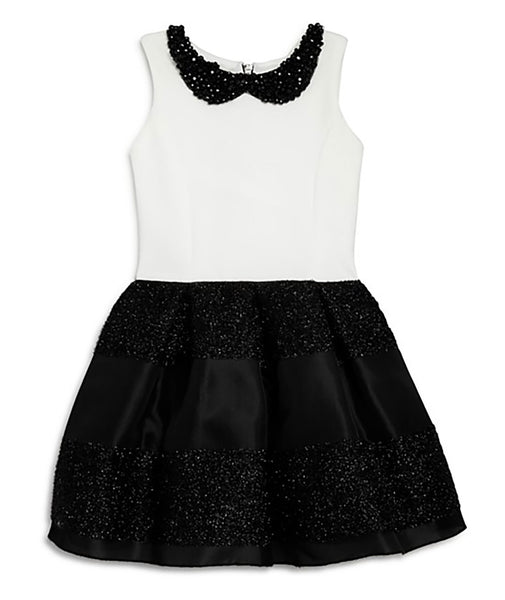 Zoe Ltd. Girls Black & White Dress