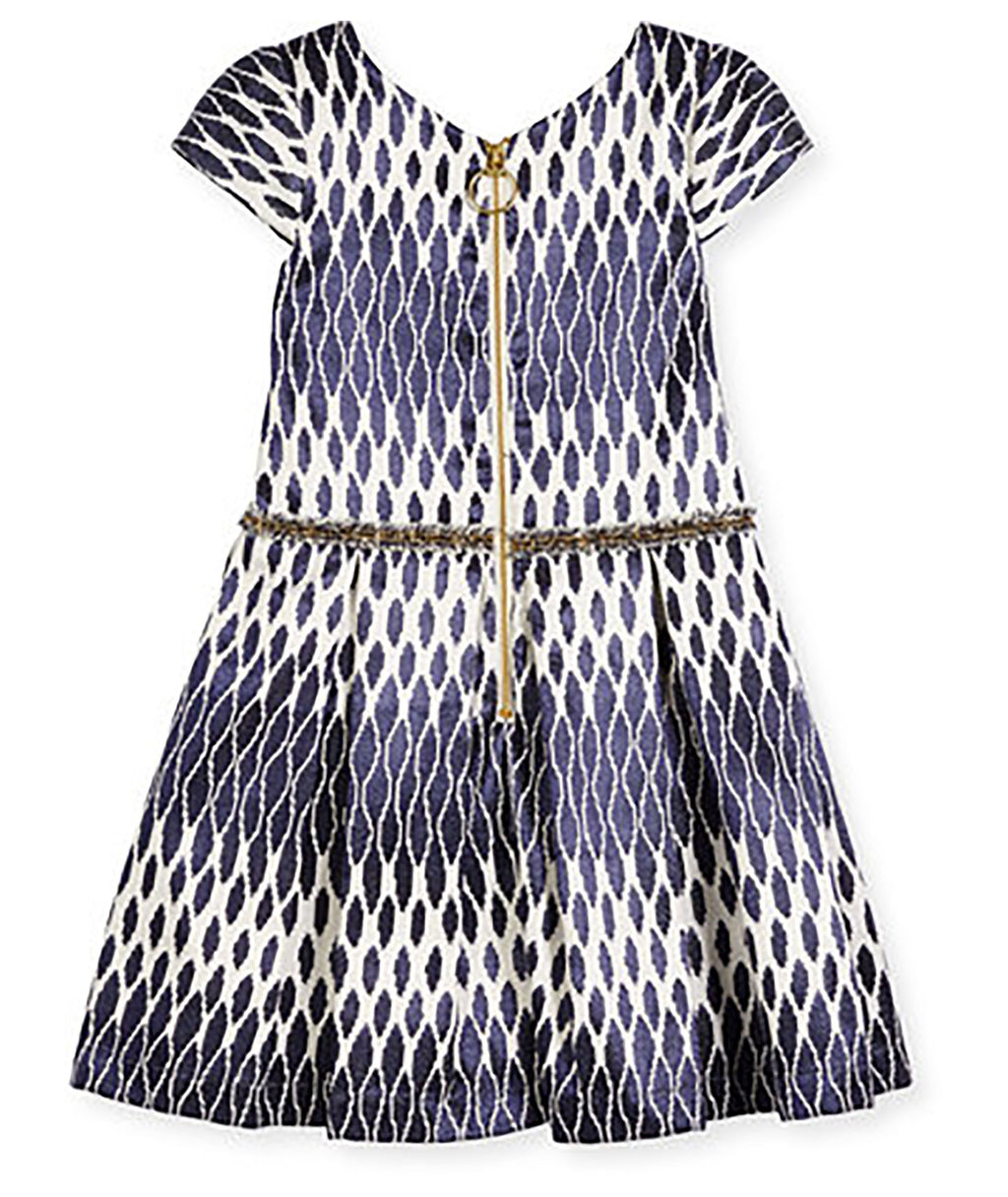Zoe Ltd. Toddlers Jacquard Navy Party Dress - Frankie's on the Park
