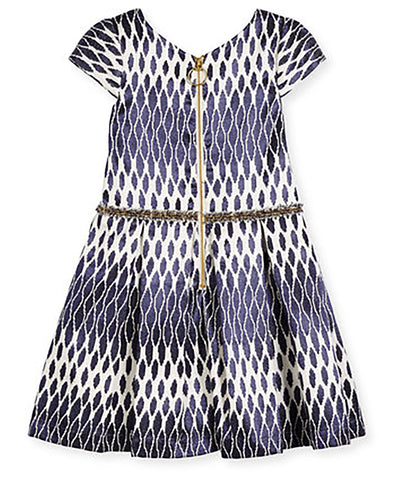 Zoe Ltd. Toddlers Jacquard Navy Party Dress