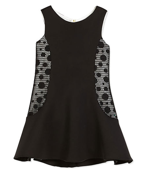 Zoe Ltd. Girls Sleeveless Neoprene Fit-and-Flare Dress