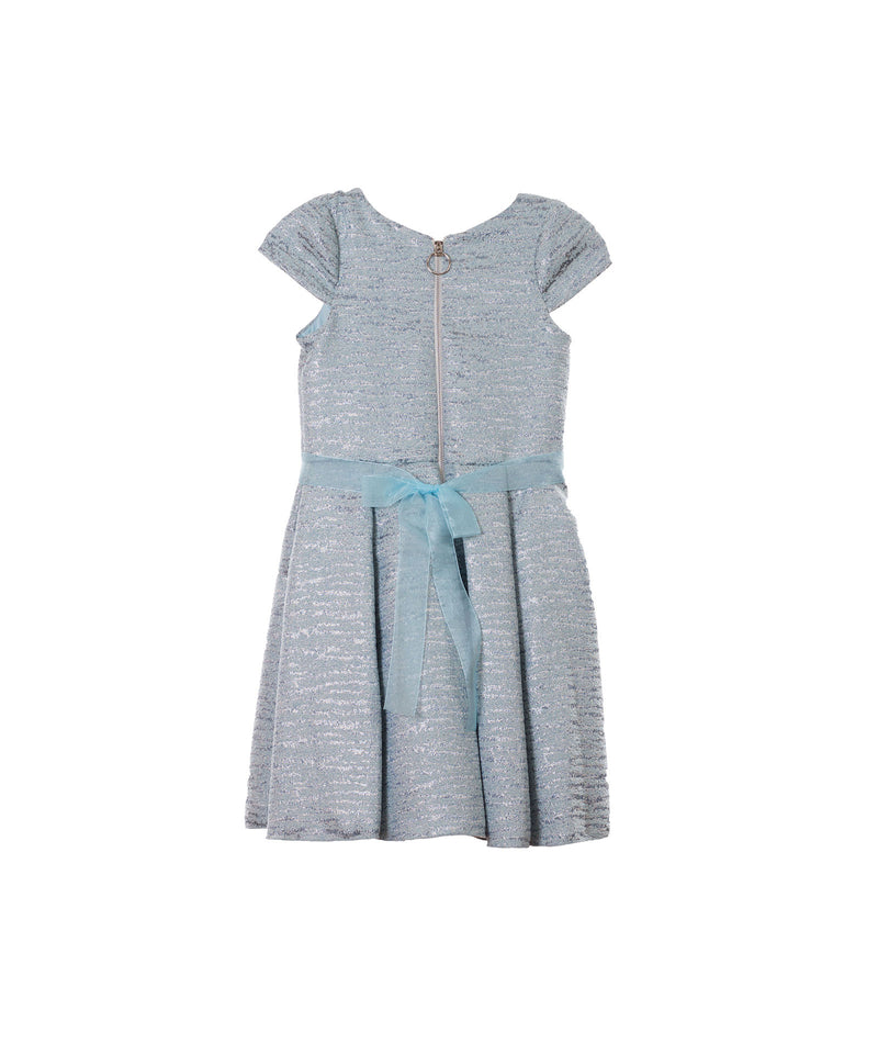 Zoe Ltd. Girls Sky Blue Brocade Swing Dress - Frankie's on the Park