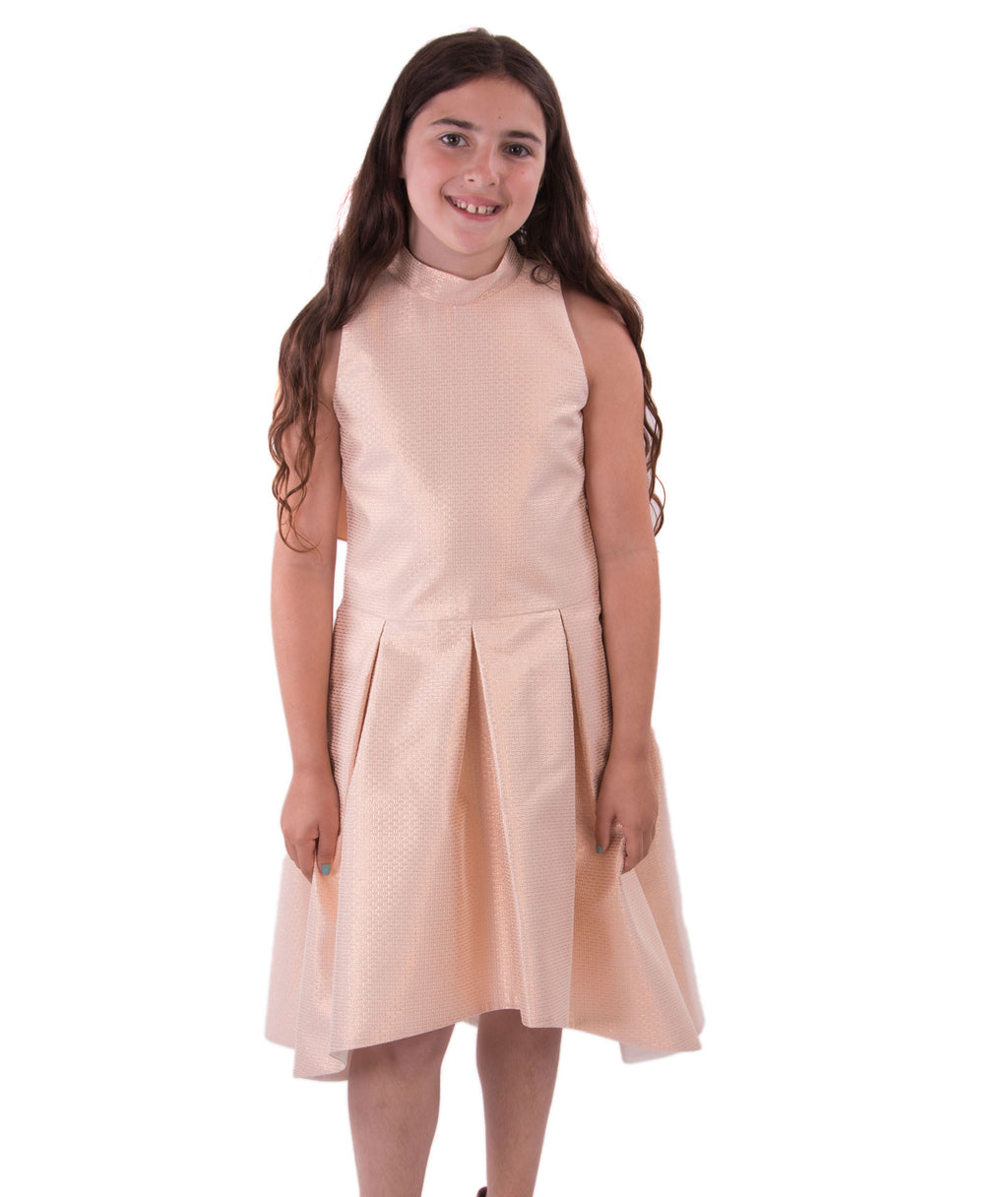 Zoe Ltd. Girls Rose Gold Dress - Frankie's on the Park