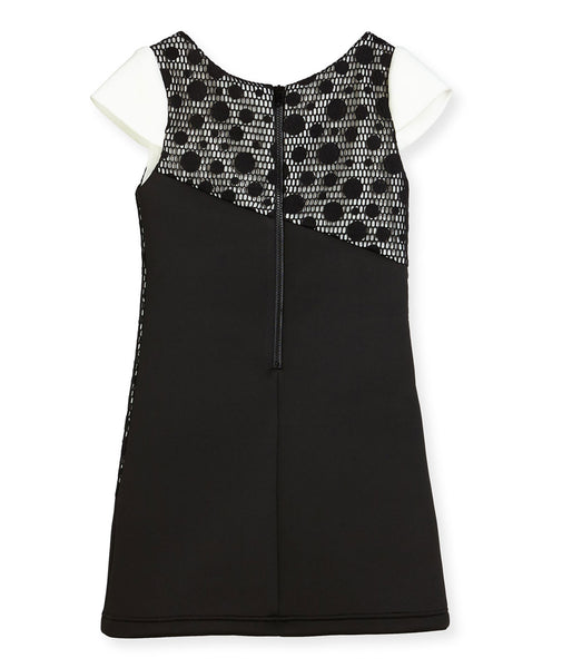 Zoe Ltd. Girls Tricolor Polka-Dot Dress