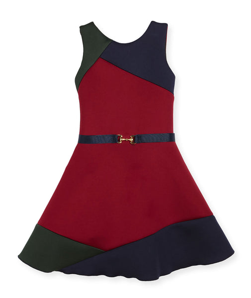 Zoe Ltd. Girls Gigi Colorblock Swing Dress