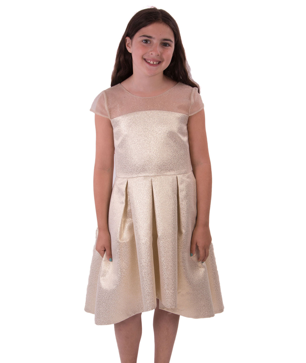 Zoe Ltd. Girls Gold Mesh Dress - Frankie's on the Park