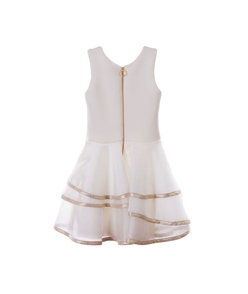Zoe Ltd. Girls Gold Tier Dress