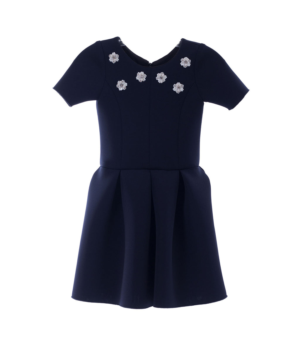 Zoe Ltd. Girls Navy Scuba Dress - Frankie's on the Park