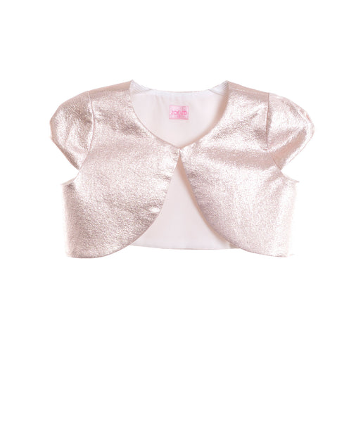 Zoe Ltd. Girls Rose Gold Shrug