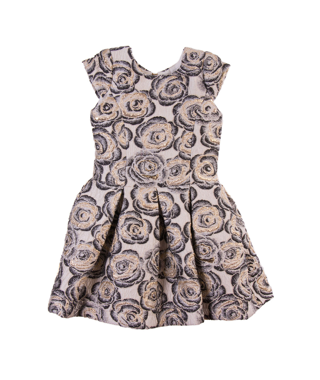 Zoe Ltd. Toddlers Rose Brocade Dress - Frankie's on the Park
