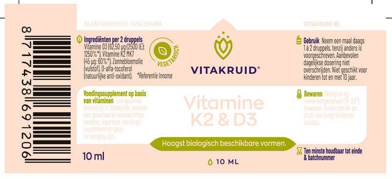 Vitamine D3 & K2 10ml