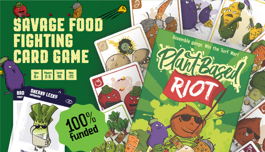 Plant-Based Riot image of box and cards