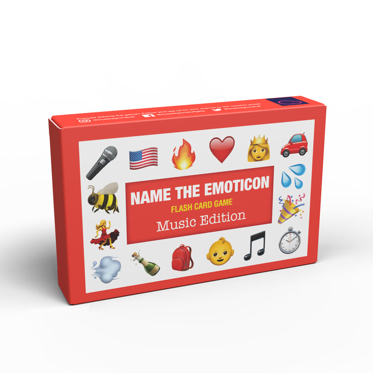 Name the Emoticon Card Game - Music Edition