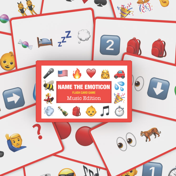 Name The Emoticon Card Game - Entertainment Bundle