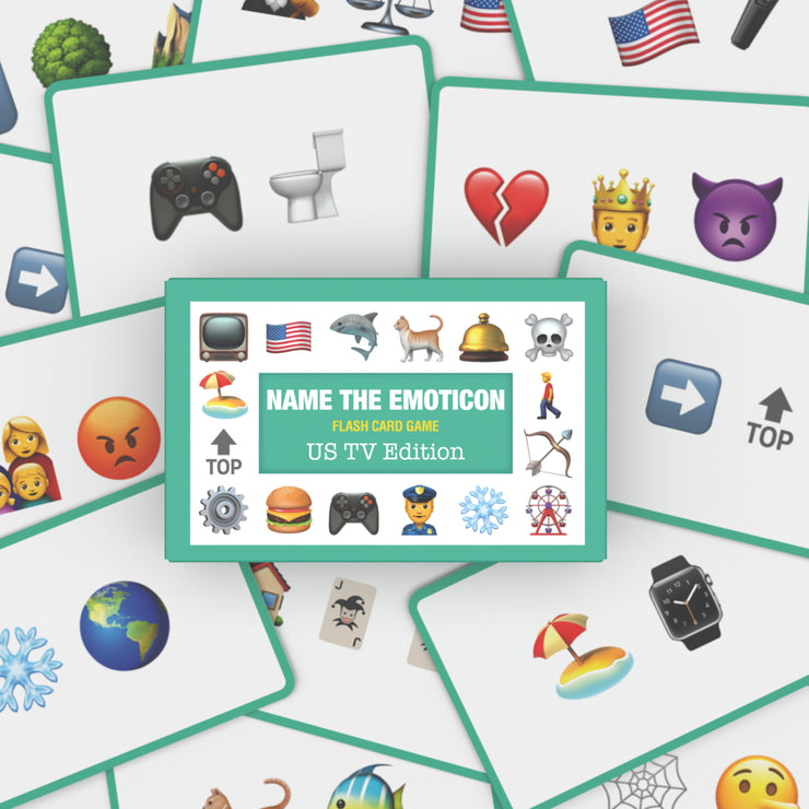 Name the Emoticon Card Game - US TV Edition
