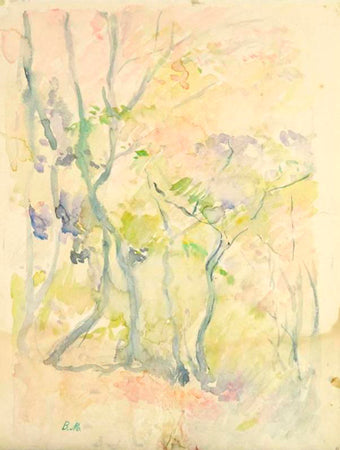 Forest in Fontainebleau - berthe morisot - women impressionists