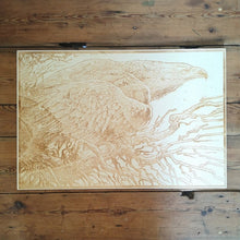 Load image into Gallery viewer, 'THE EAGLE' NATURAL LASER ETCHED WOOD