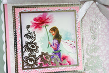 Load image into Gallery viewer, PINK FAIRY HANDMADE CARD