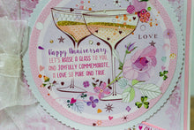 Load image into Gallery viewer, CHEERS HANDMADE ANNIVERSARY CARD