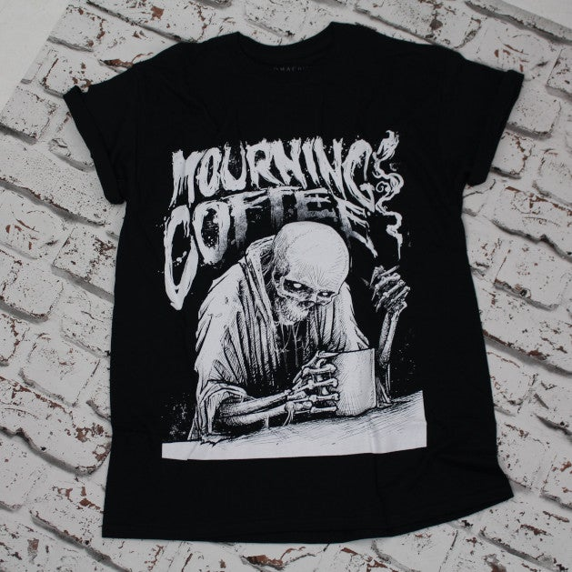 MOURNING COFFEE UNISEX T-SHIRT