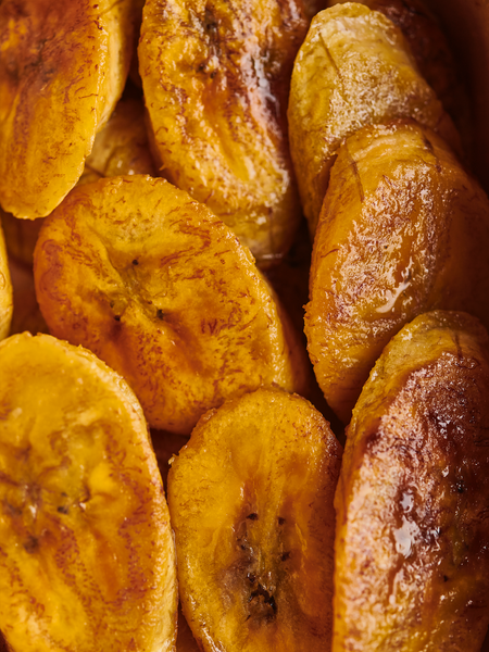 Pan fried small batch plantain from At Home by Myristica: fruity and filling!