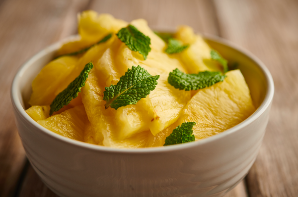 The classic Caribbean combination of pineapple and mint is given a beautiful home in the meal kits from At Home by Myristica!