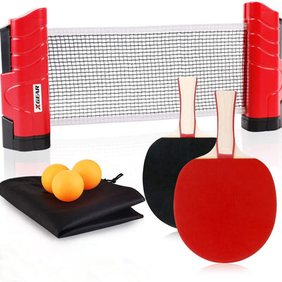 Portable Ping Pong Set Red