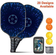 Pickleball Paddle (2 Paddles 4 Balls) ,Splash