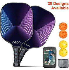 Pickleball Paddle (2 Paddles 4 Balls) , Neon