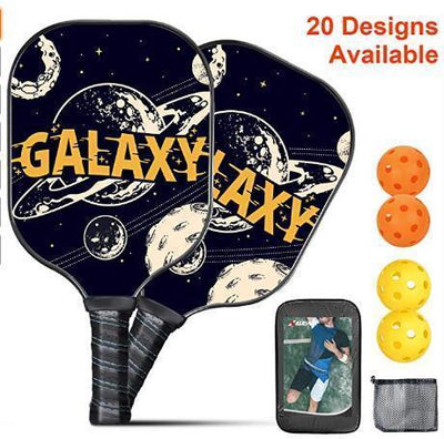 Pickleball Paddle (2 Paddles 4 Balls) ,Galaxy