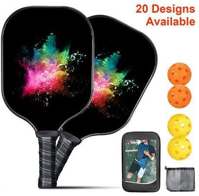 Pickleball Paddle (2 Paddles 4 Balls) , Ink