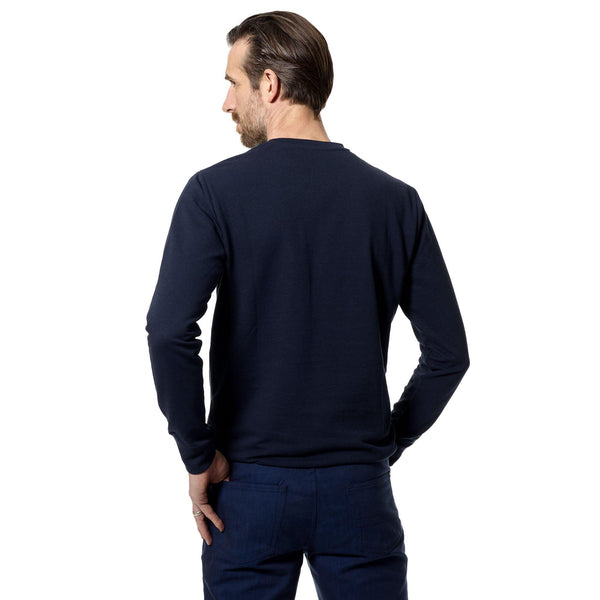 French Riviera navy cotton sweatshirt - Alexandra Wood