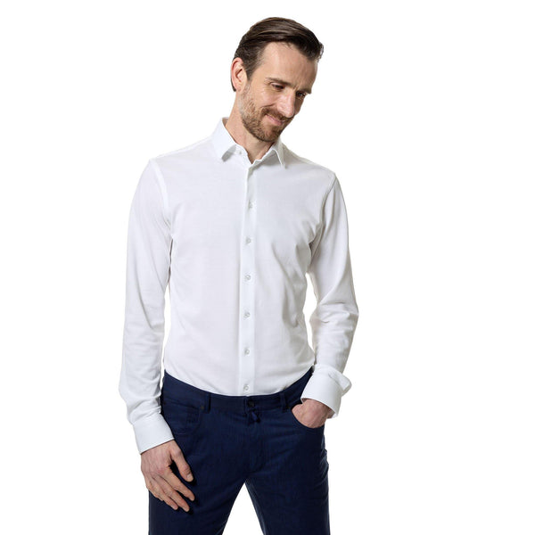 Pique de resistance tailored cotton shirt - Alexandra Wood