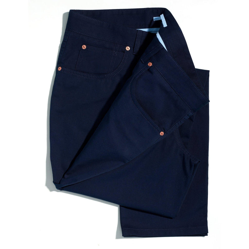 Californian Vibrant Blue lightweight chinos - Alexandra Wood