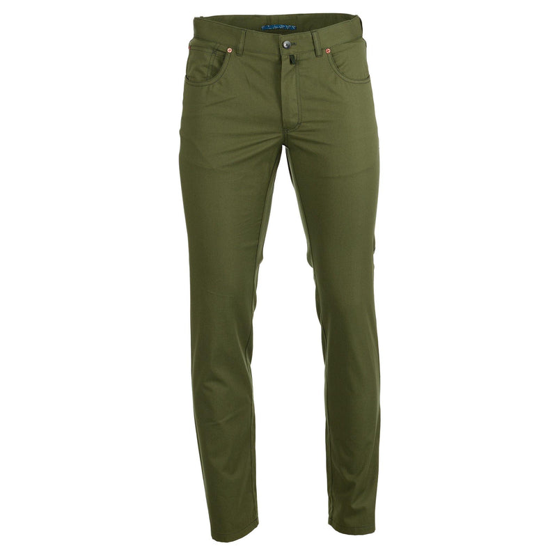 Californian olive lightweight chinos - Alexandra Wood