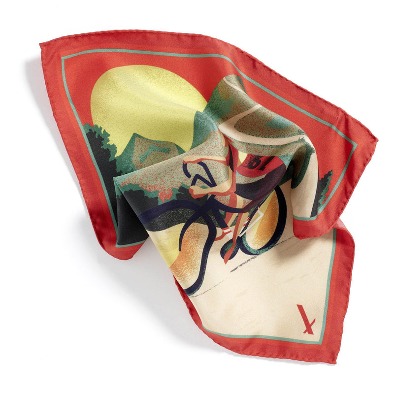 Merveilleux Cycliste Limited Edition silk pocket square - Alexandra Wood