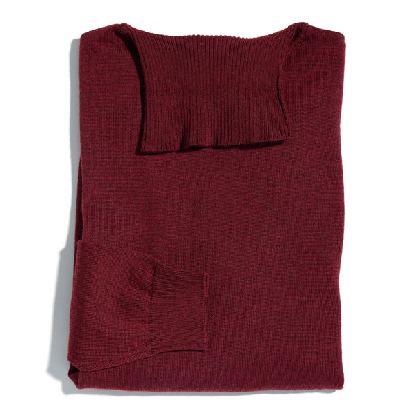 James Dean burgundy roll neck - Alexandra Wood
