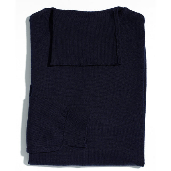 James Dean navy roll neck - Alexandra Wood