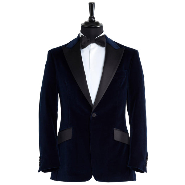 Midnight Caller Navy Velvet Smoking jacket - Alexandra Wood