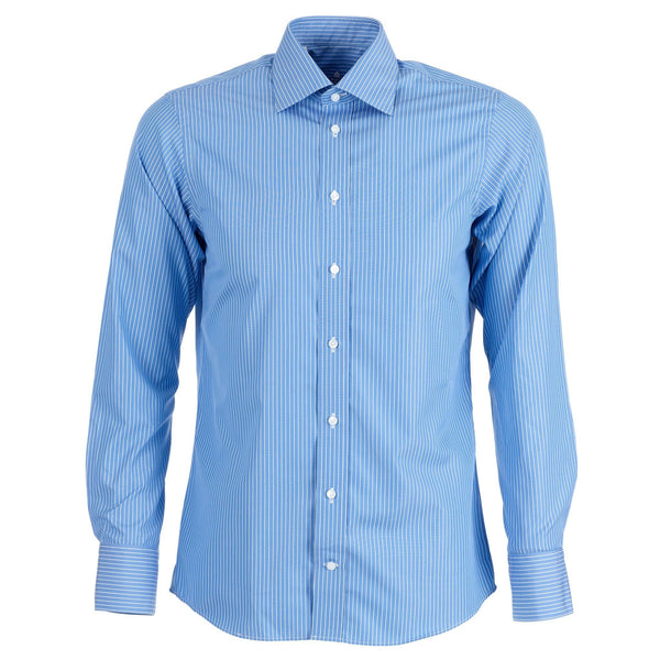 Monterey blue stripe shirt - Alexandra Wood