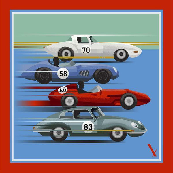 Speed Demon square print - Alexandra Wood
