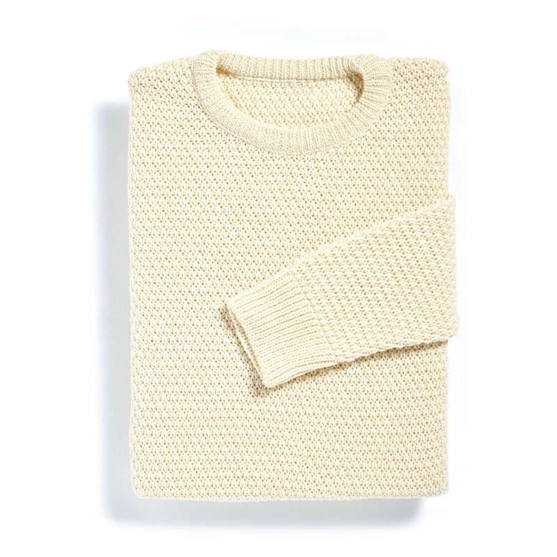 New York cream moss stitch merino sweater - Alexandra Wood