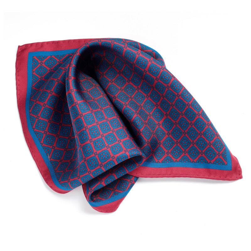 Napoli Night silk pocket square - Alexandra Wood