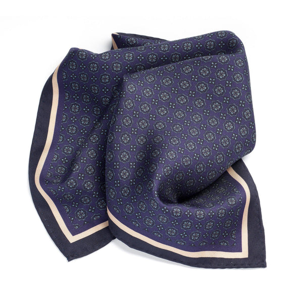 Lake Como Silk Pocket Square - Alexandra Wood
